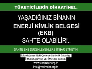 TÜKETİCİLERİN DİKKATİNE!..