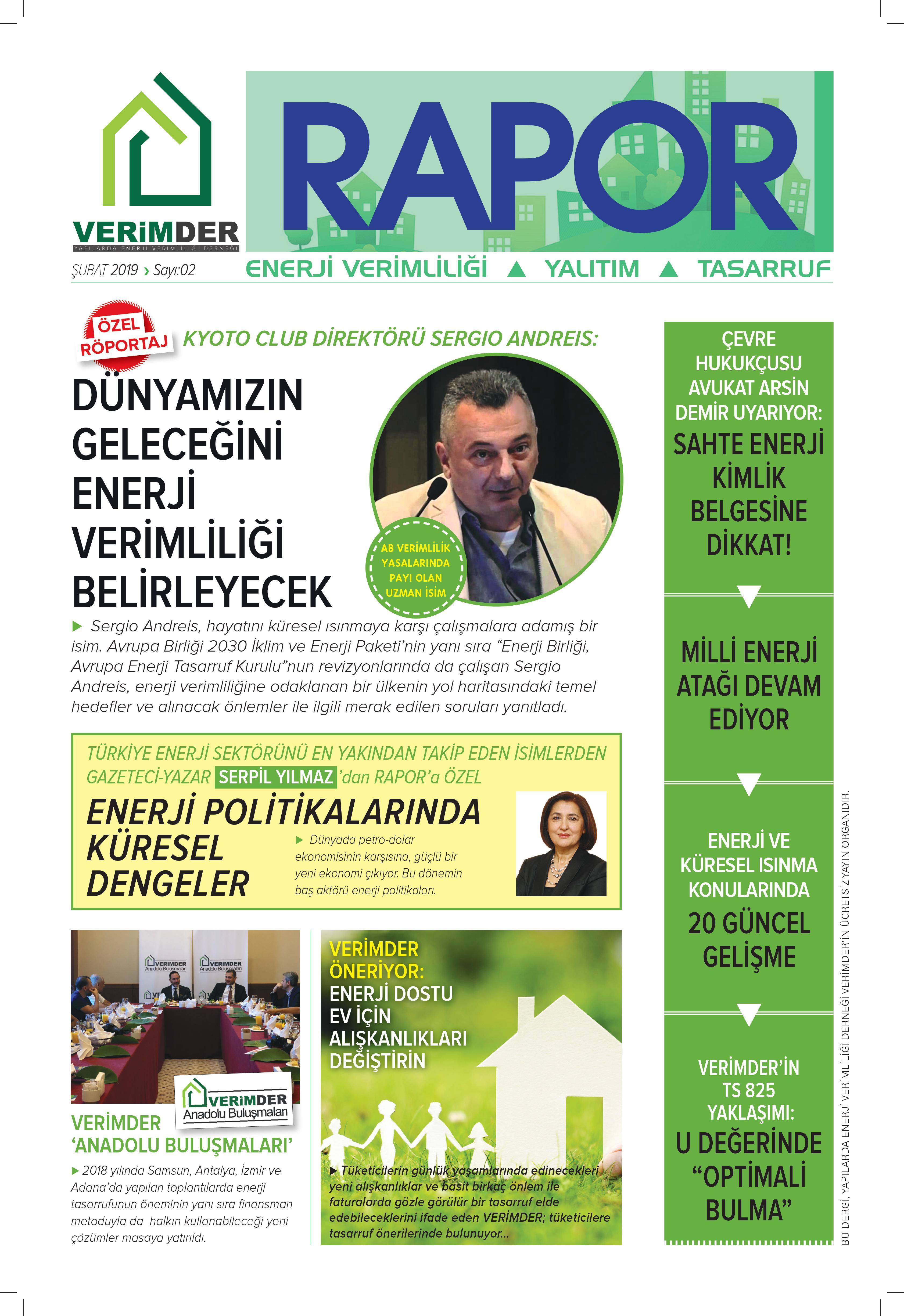 VERİMDER RAPOR DERGİSİNİN 2. SAYISI YAYINDA!